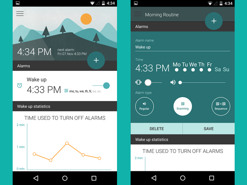 Morning Routine Alarm Clock – MaterialUp
