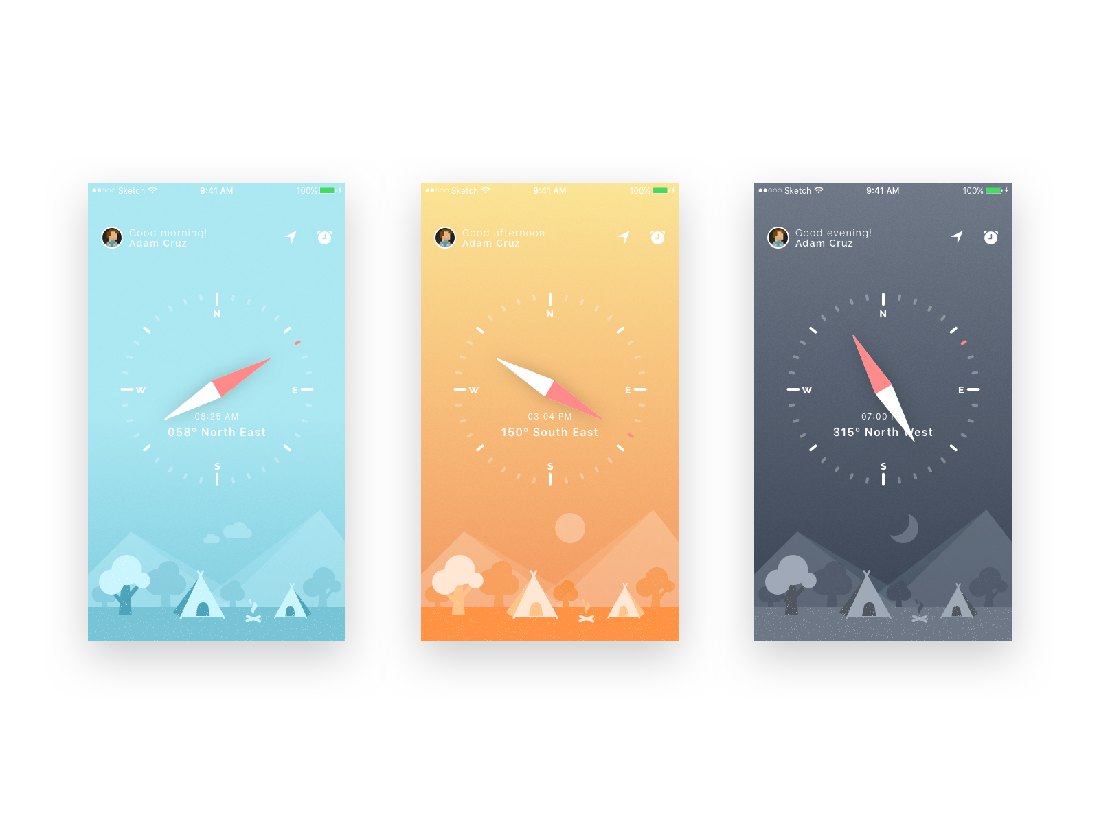 Compass ui and iphone wallpapers iosup for Application iphone temperature interieur