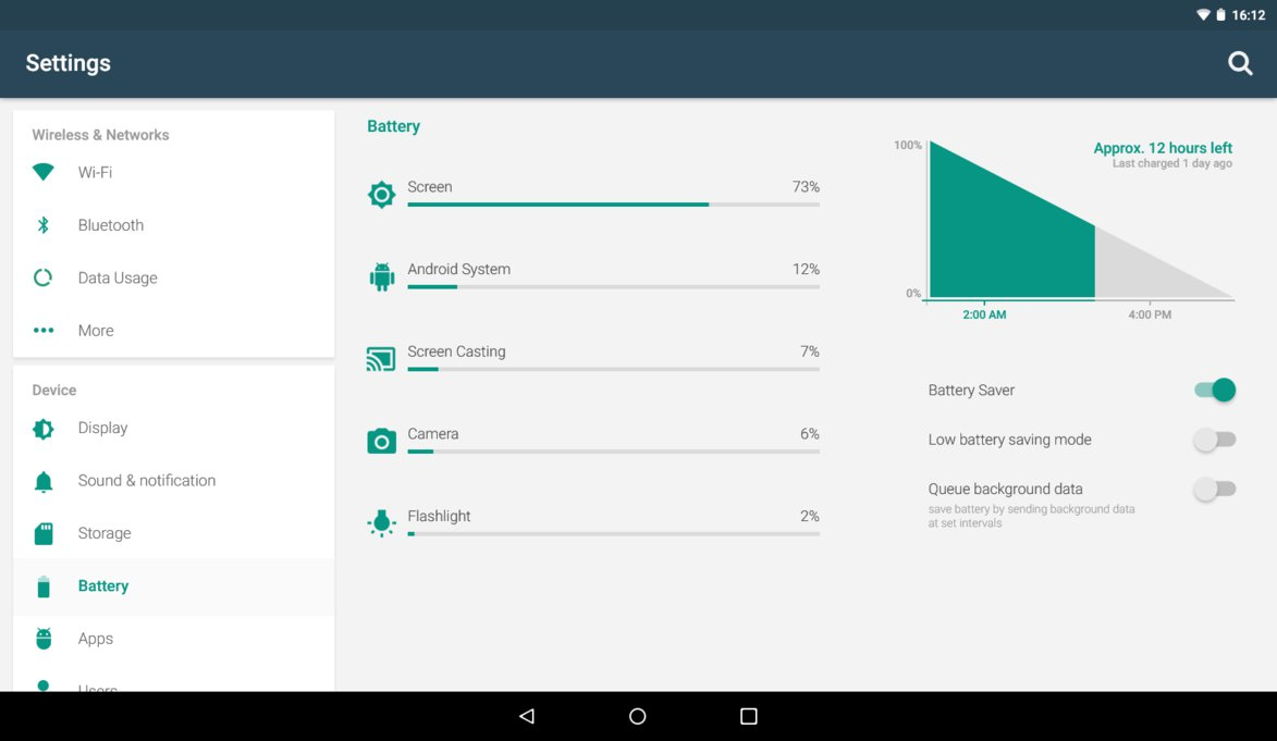 Android Lollipop Settings Tablet Layout Concept Materialup