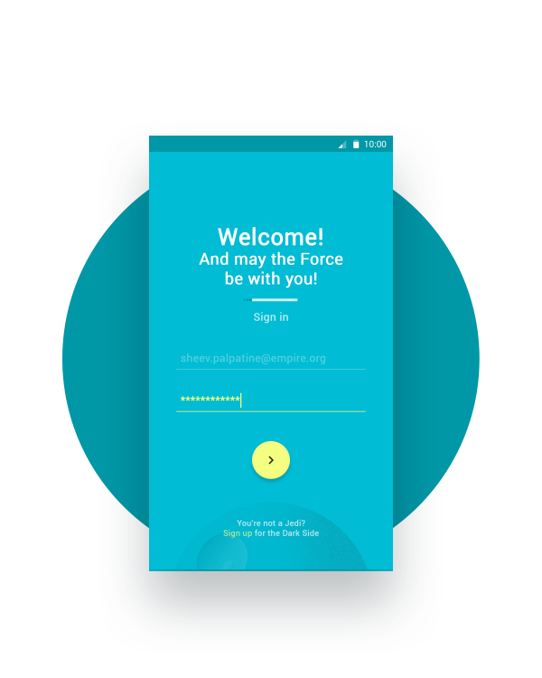 how to make android login screen