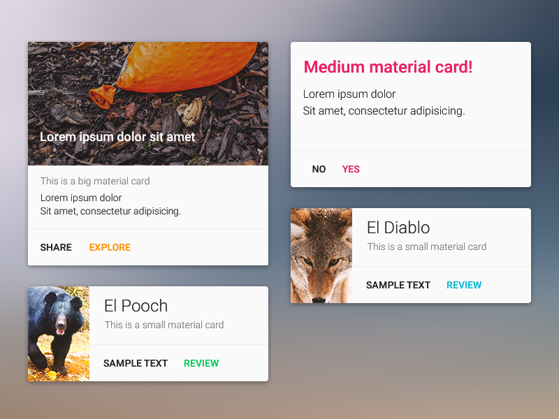 Material Design Card Component – MaterialUp