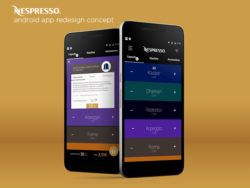 Nespresso Android App Redesign Concept Materialup