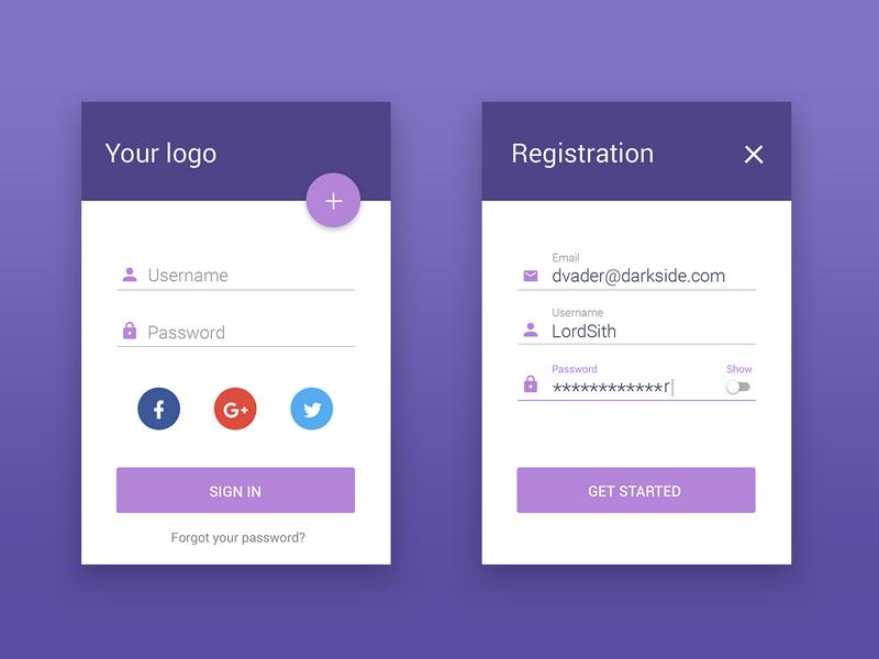 login form  u2013 materialup