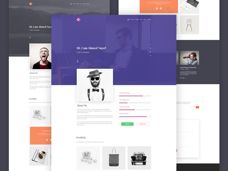 responsive resume template siteup