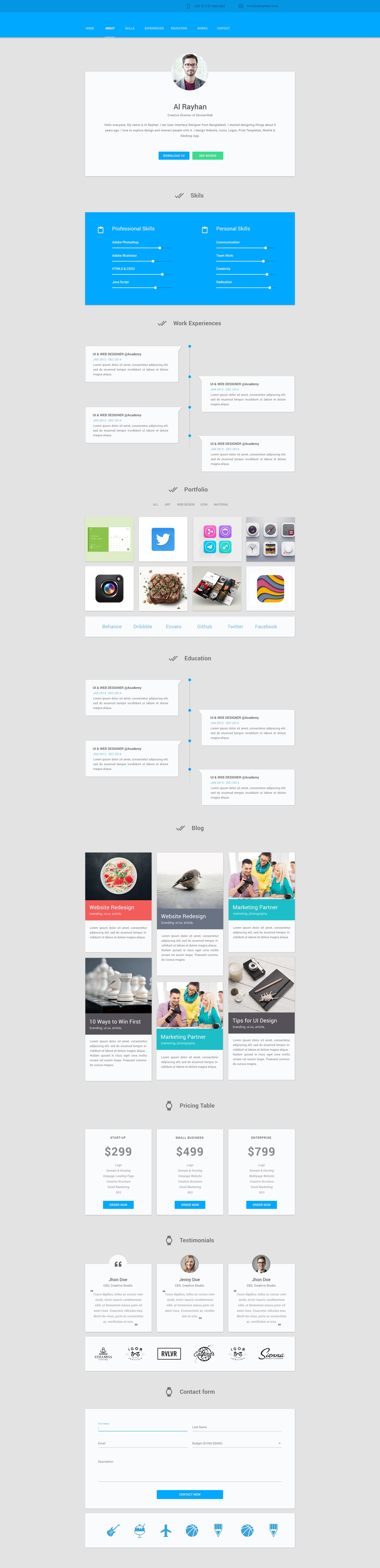 material design personal cv  u2013 materialup