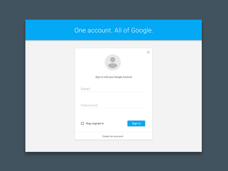 Google Account Sign In Materialup