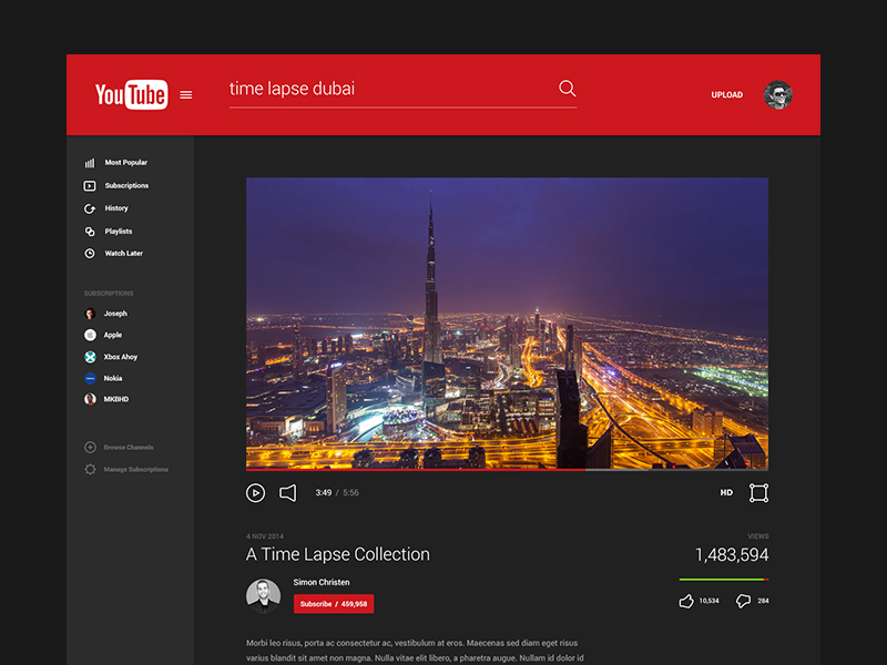 Youtube Material Design Materialup