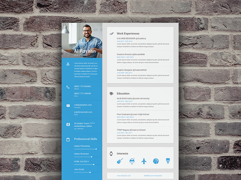 material design resume  u2013 materialup