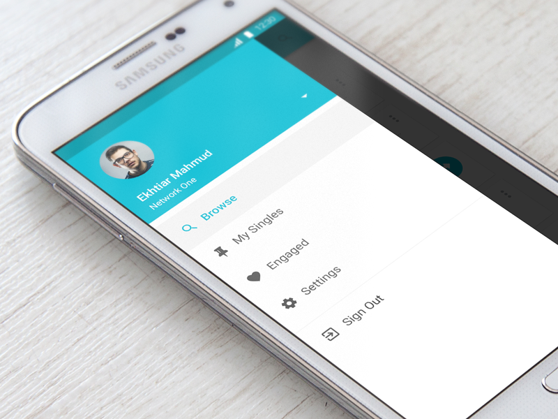 Android App Material Design Sidebar Materialup