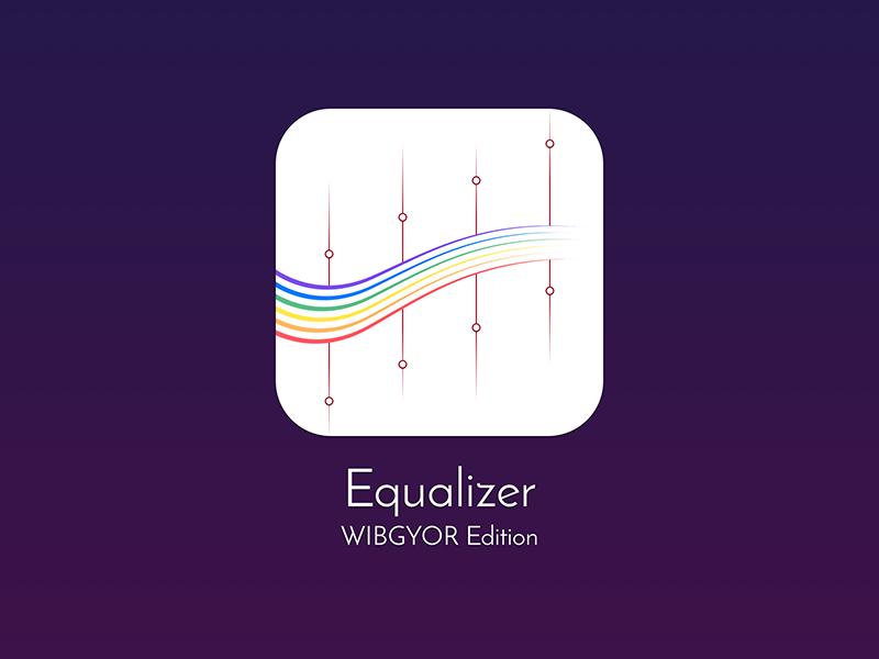 Equalizer Icon Wibgyor Edition Uplabs