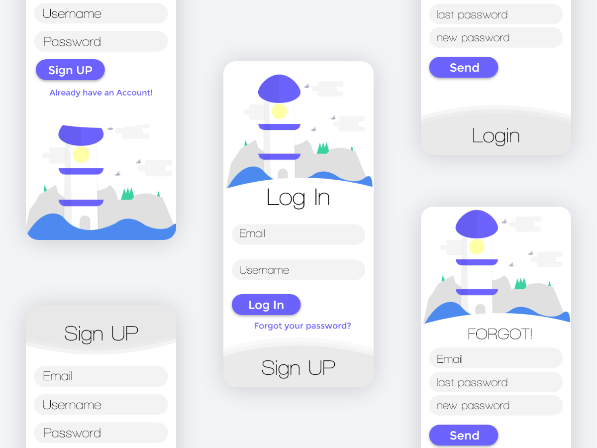 Mobile Application Login System Ui Design Search By Muzli