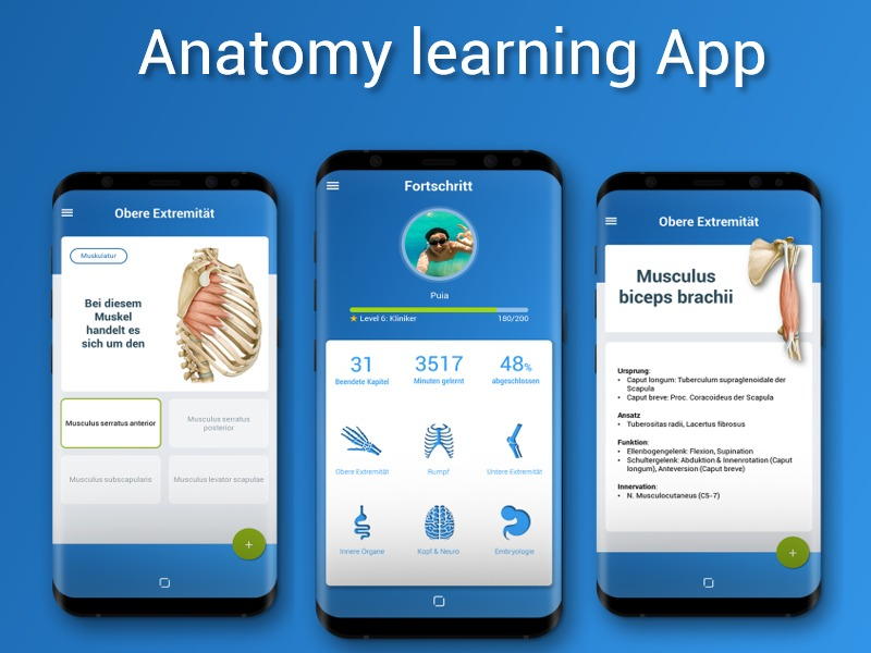 Anatomy learning App Concept - Uplabs