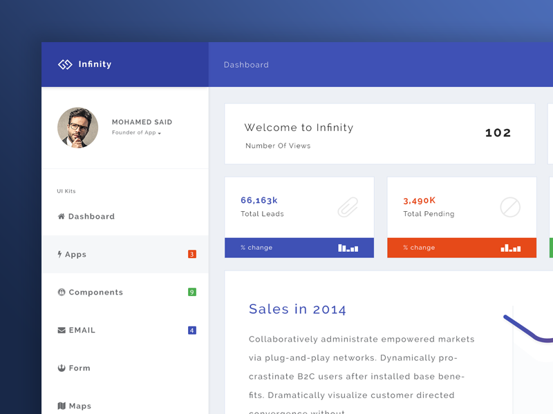 Infinity - Home page - Uplabs