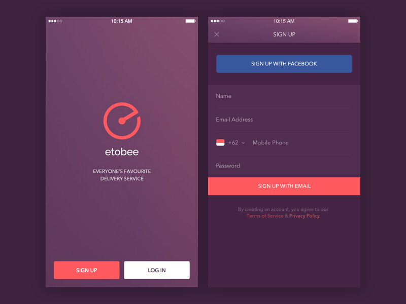 Sign Up Screen Uplabs
