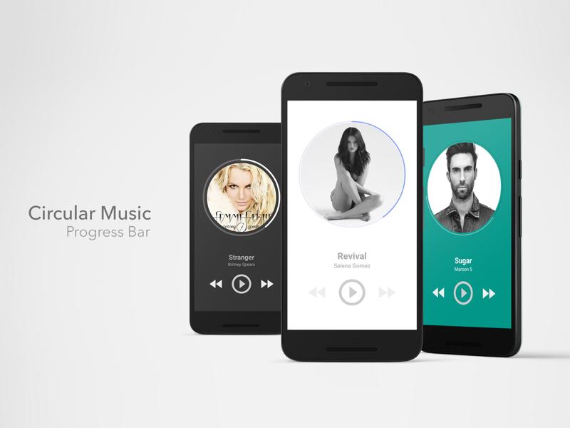 Android Circular Music ProgressBar - UpLabs