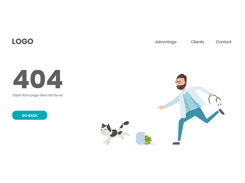404 error page deisgn example #57: Medical 404 page