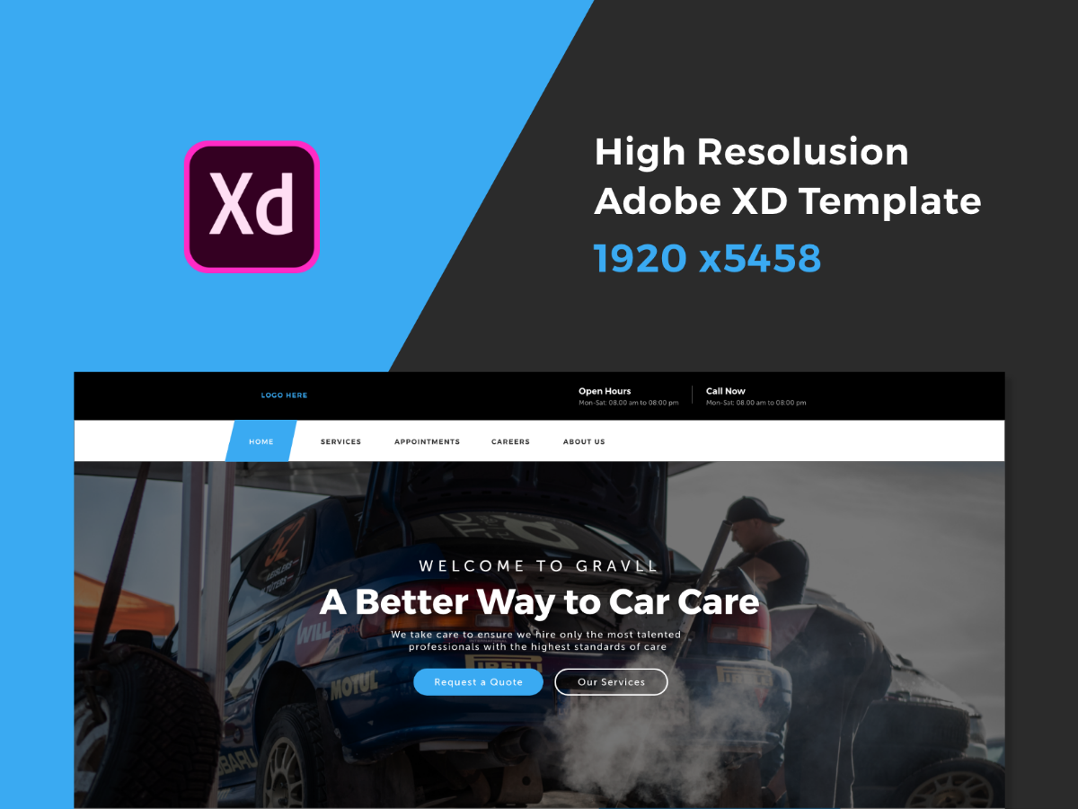 Car Repair Services Adobexd Website Search By Muzli