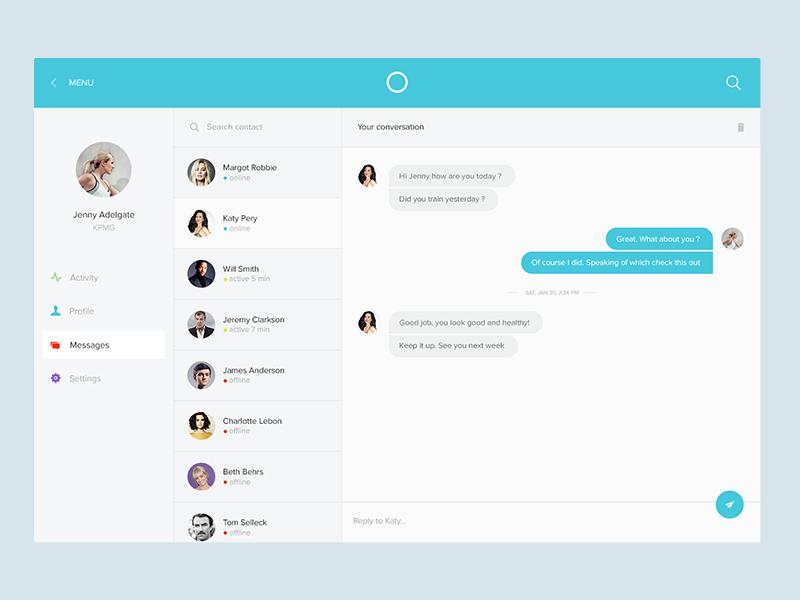 Messaging Screen Uplabs