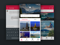 Private holidays travel android app materialup - Funformobile com login ...