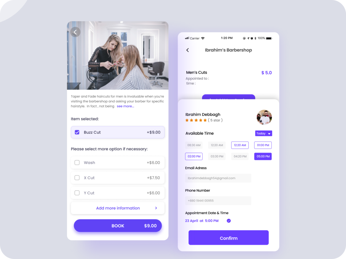 Salon App Design Search By Muzli