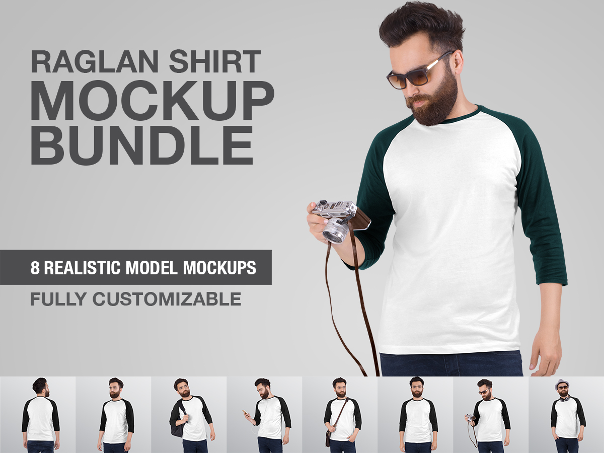 Mockups Bundle Men S Raglan T Shirt Search By Muzli