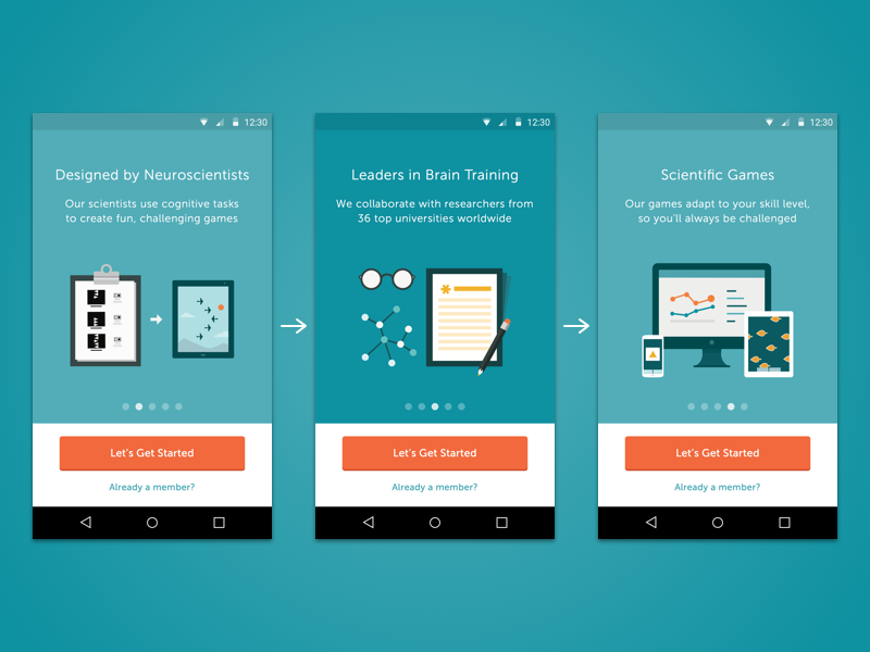 Lumosity Android Carousel Materialup