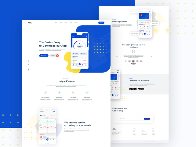 Apk  App Landing Page | Search by Muzli