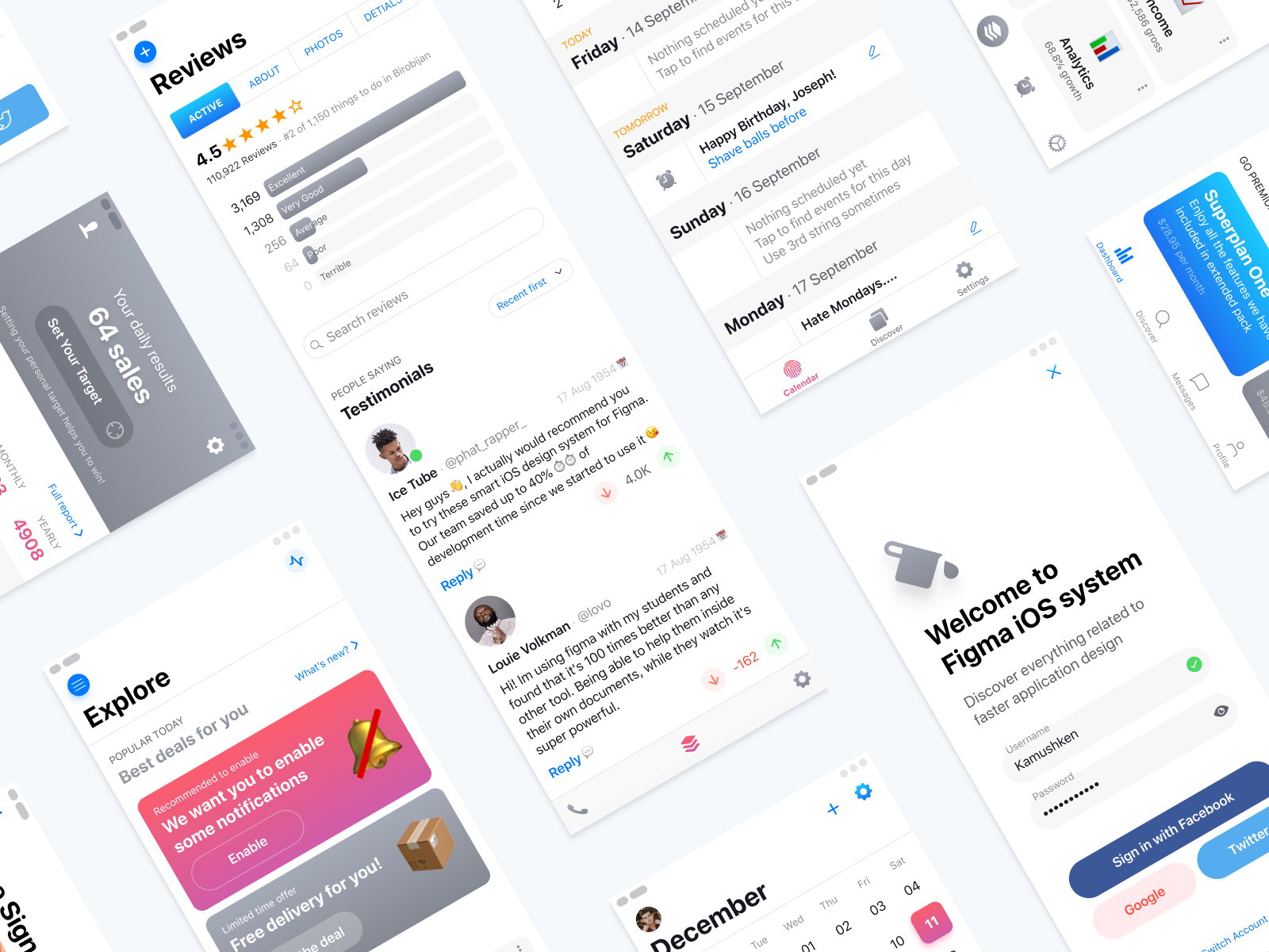 iOS12 Design Templates - UpLabs