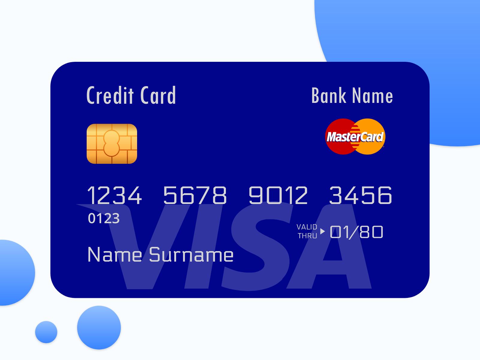 Visa card - Master card - Debit card - PayPal card - credit - UpLabs
