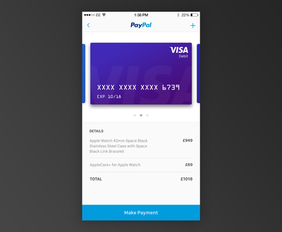 Credit Card Checkout – iOSUp