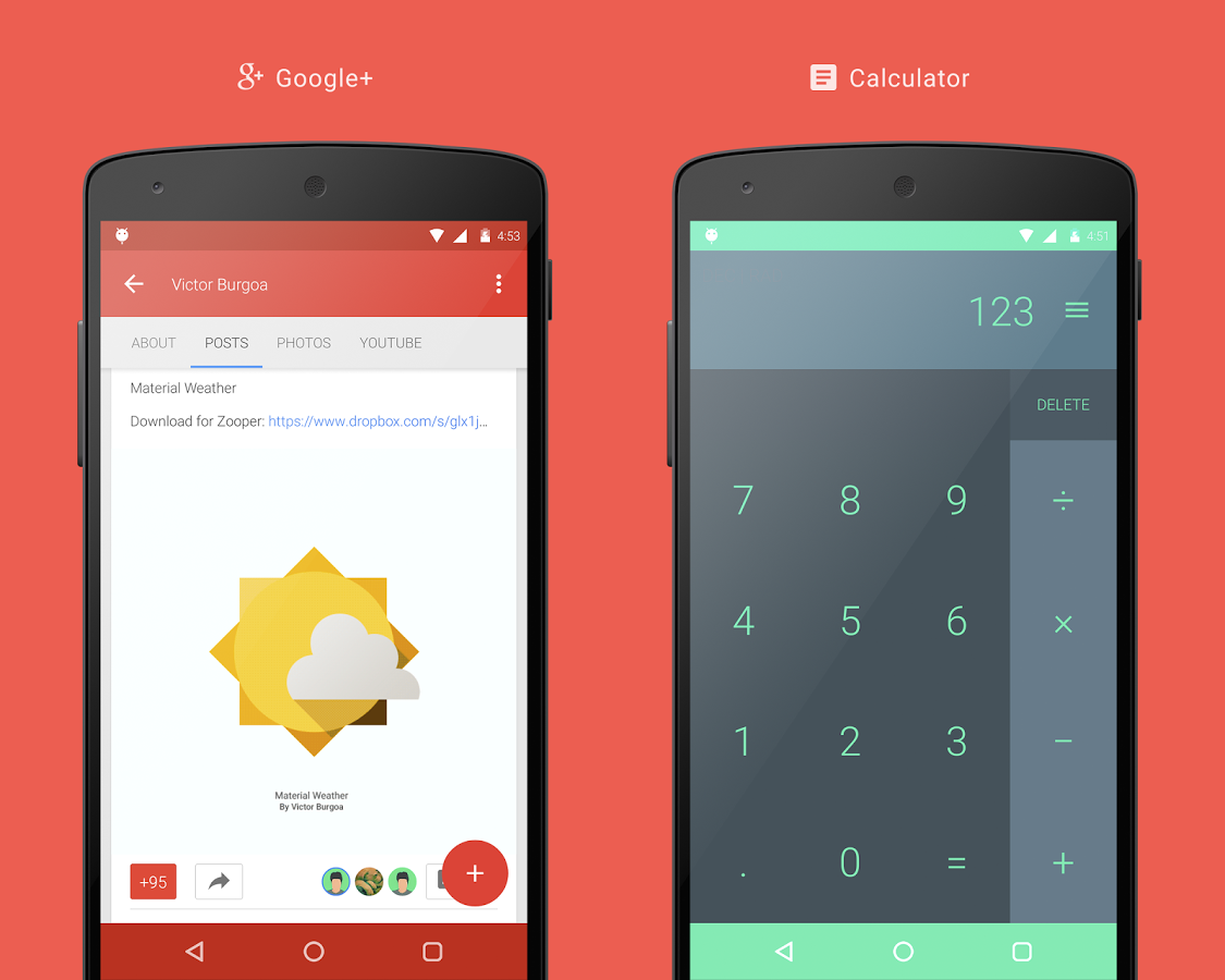 Vi Material Design Theme Android App Materialup