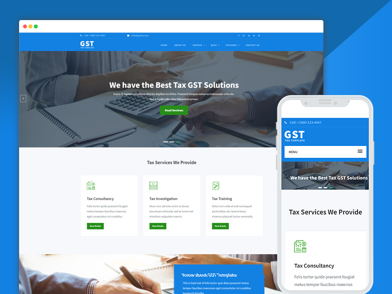 Tax Consultant Website Design Template PSD - UpLabs