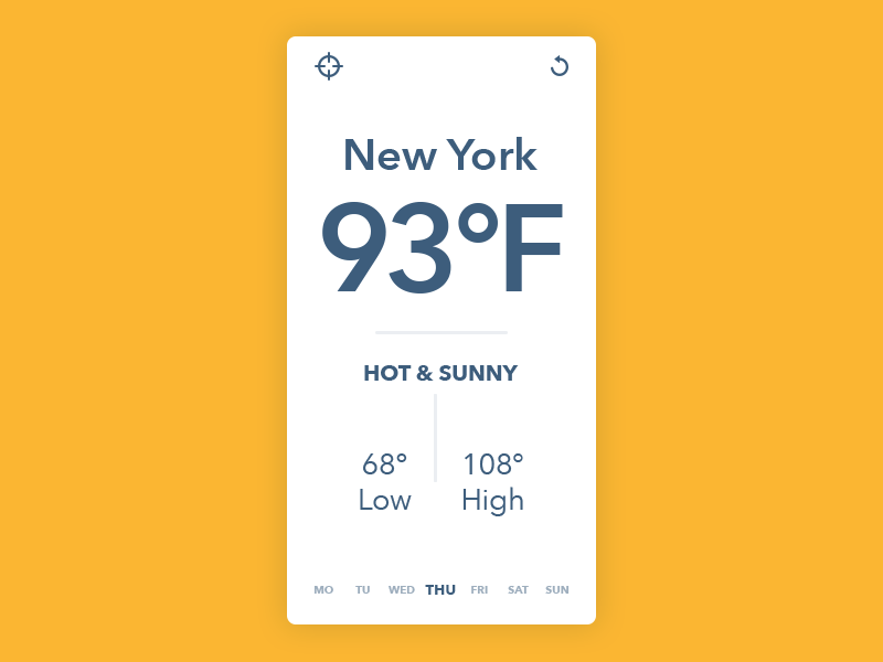 Minimal Weather UI