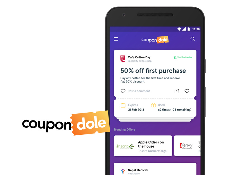 Conceptual Mockup For A Coupon App Search By Muzli
