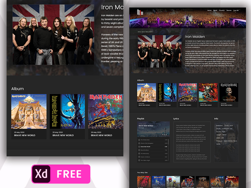 Free Music Website Template - UpLabs