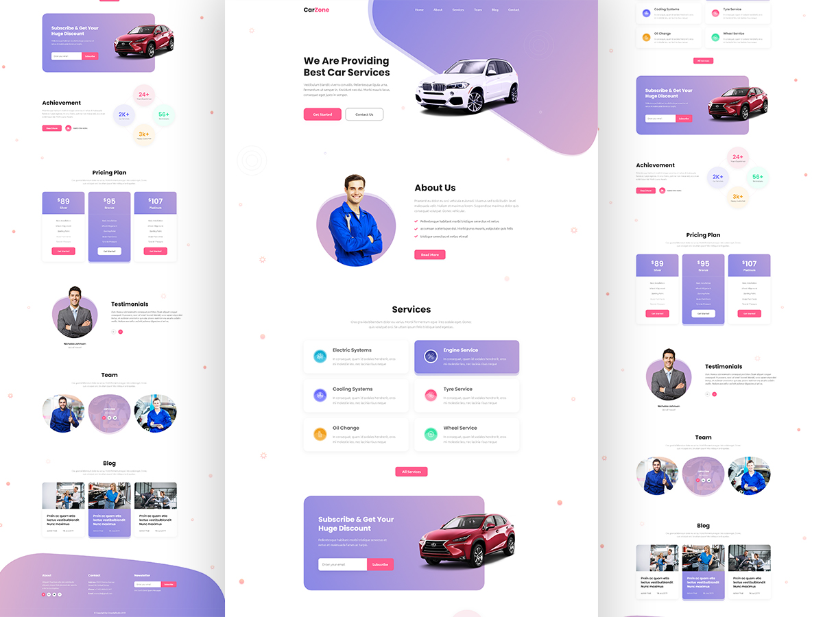 Carzone Car Repair Website Search By Muzli