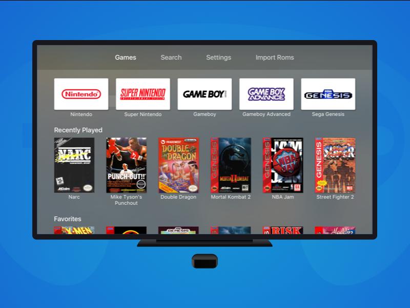 Provenance - AppleTV Rom Emulator Re-design - UpLabs