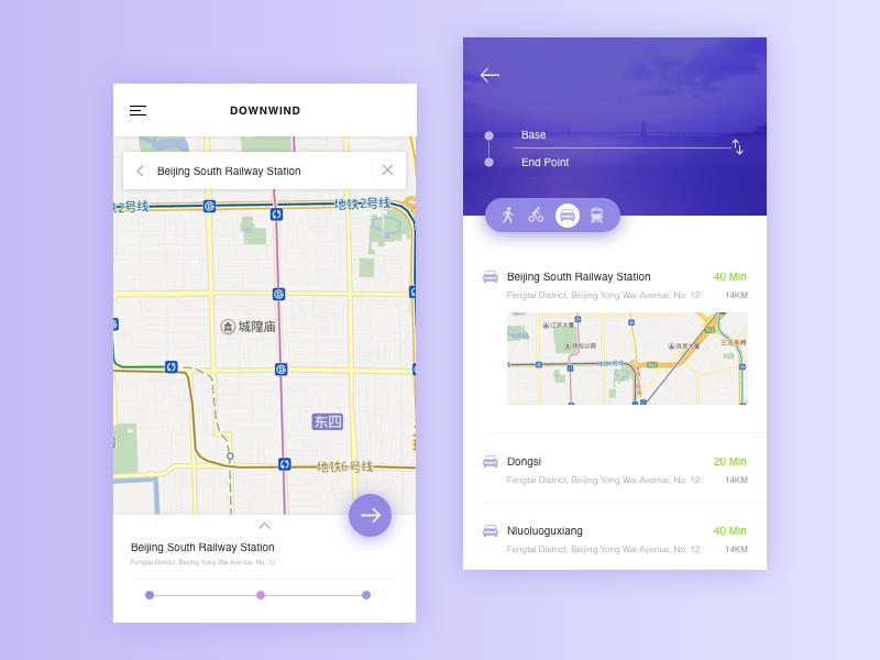 Map App Design Uplabs