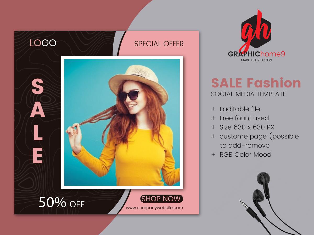 Sale Fashion Social Media Post Design Uplabs