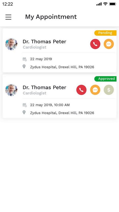 Doctor Appoitment Booking App UI KIT - UpLabs