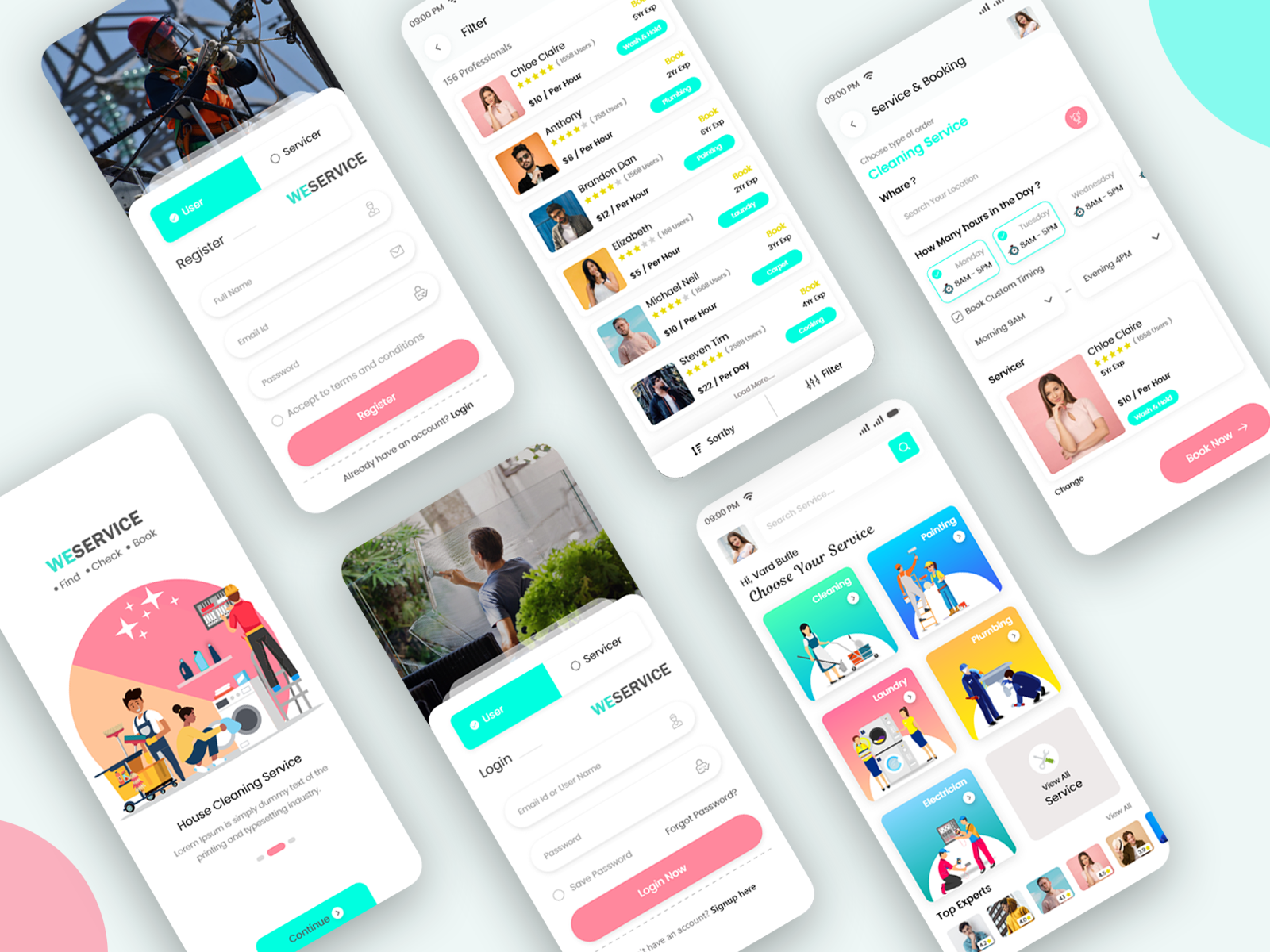 Home Cleaning And Repair Service Booking Mobile App Ui Kit Search By Muzli