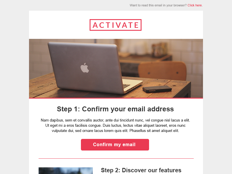 Activate email template builder uplabs for Activation email template