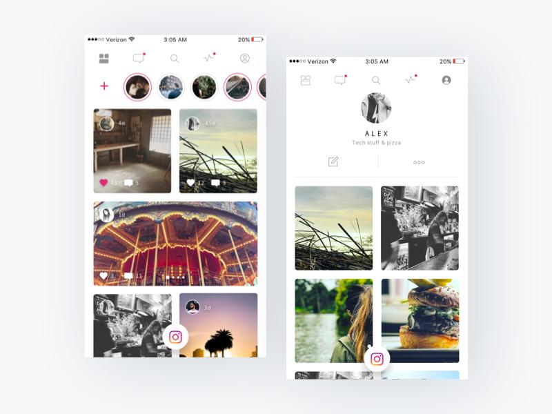 Instagram Redesign Challenge - UpLabs