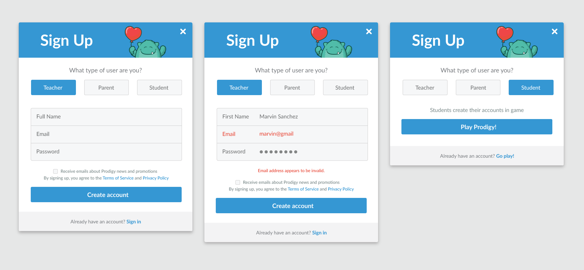 Prodigy Sign-Up - UpLabs