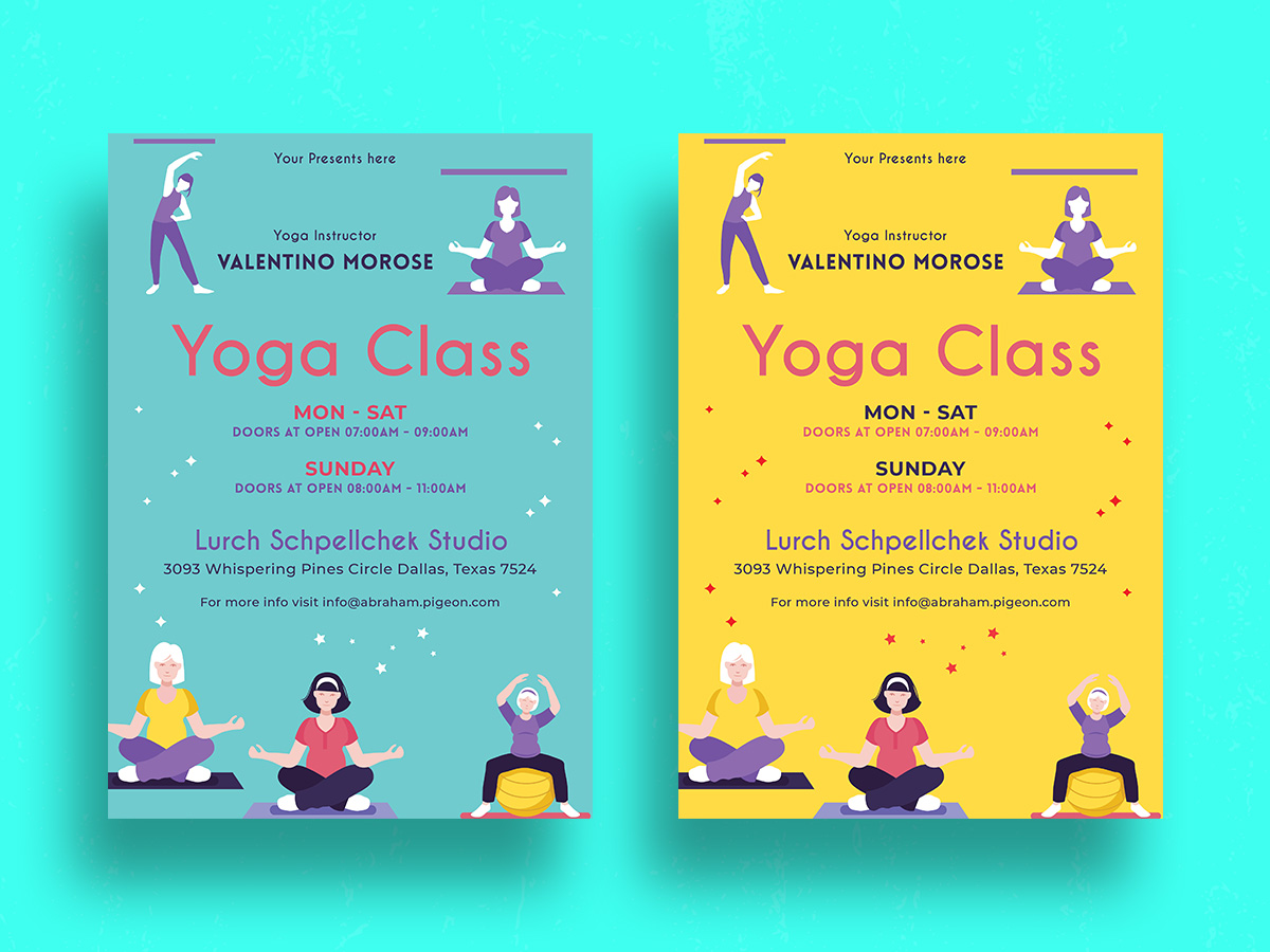 Yoga Class Flyer Template 04 Search By Muzli