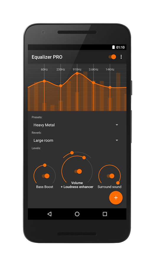 Equalizer Android App Uplabs