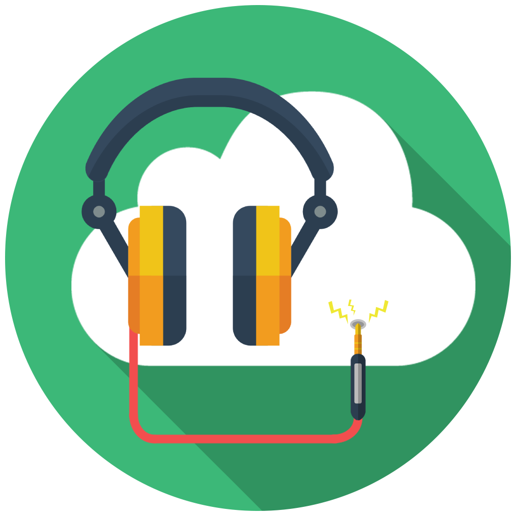 icon music cloud