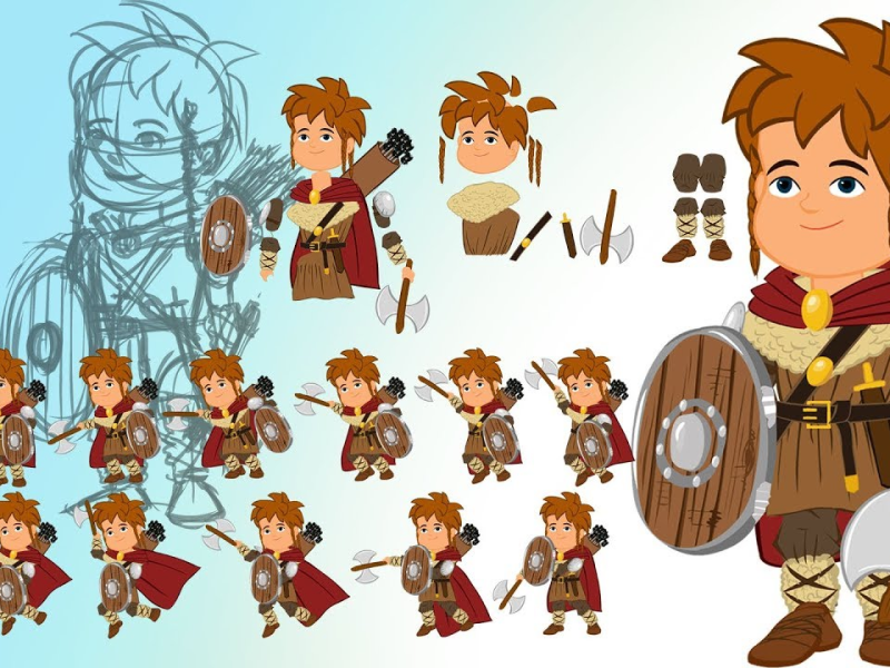 Game of Thrones (GOT) example #469: Flash/Animate cc tutorial: Step by step 2D character animation for games