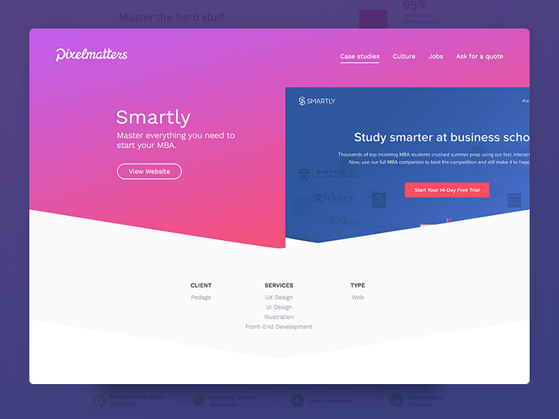 Pixelmatters Smartly Case Study Uplabs