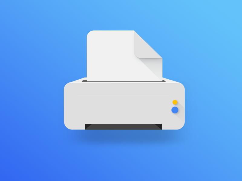 Printer Illustration Uplabs